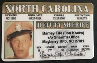 Barney Fife Don Knotts Mayberry NC Deputy Novelty Sheriff Andy Griffith License