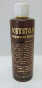 Keystone Mainspring Lube - Small to Large Clocks Plus Watches Clock Oil - Medium