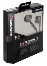 Monster Elements Sport In Ear Wireless SuperSlim Bluetooth Headphones!! Black!!