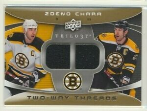 2008-09 Upper Deck Trilogy Two Way Threads Zdeno Chara Boston Bruins
