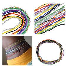 10Pcs Set Sexy Multicolor Beaded Waist Chain Single Layer Handmade Body Jewelry