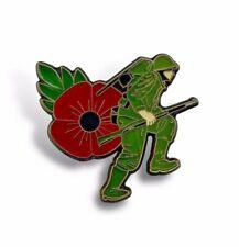 Poppy Soldier Pin Badge