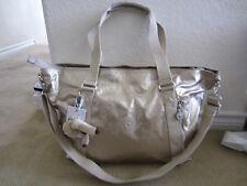 """Kipling TM5602 Skyler19.5""""Large Shoulder Crossbody Carry on Handbag Toasty Gold"""