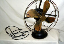 Vintage c 100 yr old 3 speed Brass Oscillating Fan Cold Wave Fan Excellent