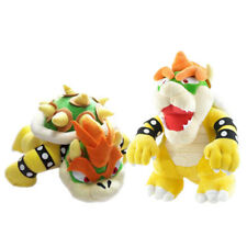 Set of 2 Super Mario Bros King Bowser and Stand Bowser Koopa Plush Doll Toy