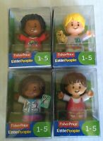 Fisher price little people Lot of 4 ages 1-5 Mia, Audrey,  Chris, Ella.