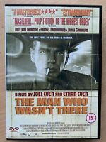The Man Who Wasn't There DVD 2001 Coen Brothers Noir Crime Thriller Classic