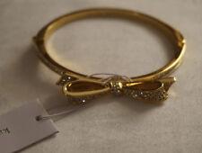 Kate Spade Love Notes Gold Pave Rhinestone Bow Bangle Bracelet