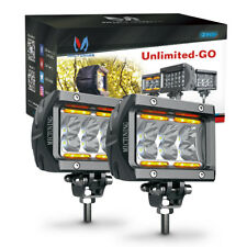 """MicTuning Pair 18W CREE Led Light Bar Pods 4"""" 1620LM Offroad Flood Beam Fog Lamp"""