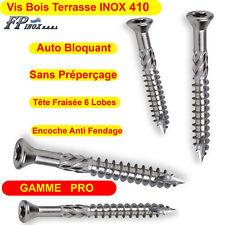 Vis Terrasses INOX 410 Bois Dur Exotique GAMME PRO 4x40 5x50 5x60 5x70 5x80