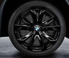 "BMW F15 X5 Genuine Star Spoke 491 BLACK Wheel Set,Wheels 20"" Rims NEW 2014+"
