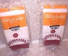 2 PC BabyLegs Baby Toddler Leg Warmer Boy Girl Crawling Knees Red White One Sz