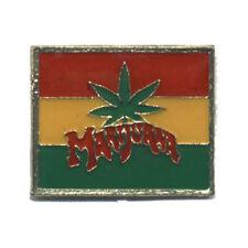 Wholesale Lot of 12 Marijuana Leaf Rasta Hat Pins Pot Weed Fast Usa Shipping