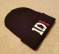 Official Licensed One Direction, 1D,  Black Beanie Bobble Hat One Size.