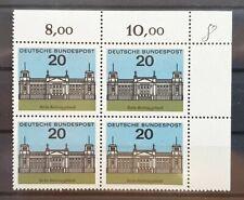 Bund 1964 ** Mi 421 Berlin Reichstag Eckrandviererblock Ecke oben rechts (1042)