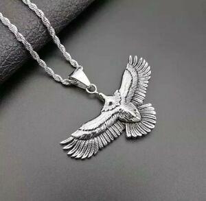 Stainless Steel Soaring Eagle Pendant