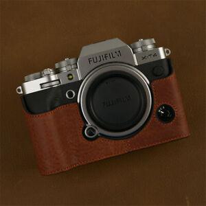 For Fujifilm XT4 Camera Leather Protective Sleeve Half Set Base Handmade Cowhide