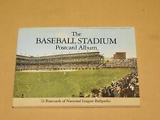 VINTAGE 1990 THE BASEBALL STADIUM POSTCARD ALBUM NATIONAL LEAGUE BALLPARKS BOOK