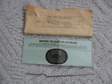VINTAGE NEW ART RAG RUN HOOK TOOL NEEDLE WITH INSTRUCTIONS