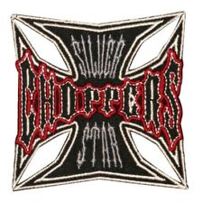 Silver Star Choppers Maltese Cross Patch Biker Cycle Embroidered IronOn Applique