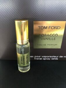 Tobacco Vanille Tom Ford Eau De Parfum - Travel spray refills 12 ml. Sample New.