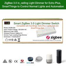 Echo Plus Hue Bridge Compatible Smart ZigBee 3.0 inline Light  Dimmer