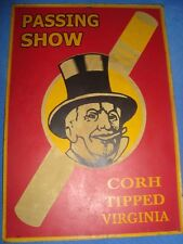 Old Vintage Passing Show Cigarette Advertisement Tin Sign Board from England1930