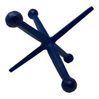 Vintage MCM Bill Curry Design Line Cast Iron Blue Jack Jax Bookend Door Stopper