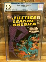 Justice League Of America #75 1969 1st Black Carnary CGC 5.0 2090331018
