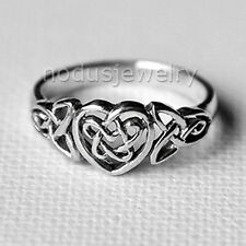 Celtic heart ring, infinity knot ring, love celtic jewelry, 925 sterling silver