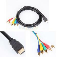 HDMI Male to 5 RCA RGB Audio Video AV Component Cable Cord Gold Plated Connector