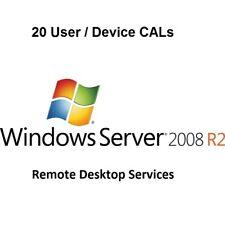 20 User CALs - Remote Desktop Services (RDS) for Server 2008 R2 Enterprise