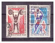 NOUVELLE CALEDONIE  . N° 375/376. 2   VALEURS   SPORT  OBLITEREES    .SUPERBE .