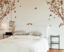Large Side Tree with Birds&Cage Art Vinyl Wall Sticker, Wall Decal- HIGH QUALITY