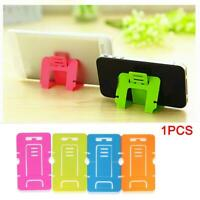 Universal Folding Plastic Desktop Desk Stand Holder Mount For Cell Phone Portabl
