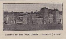 1923  --  RESERVE DE BOIS POUR CAISSES A MOUSTRY   LANDES   3G114