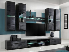 Furniture Living Room Set TV Unit Modern Cabinet Cupboard Wall Shelf Stand Gloss