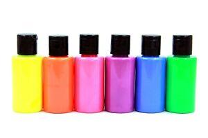 NEU & GRÖßER Fluoreszierende Acrylfarben Set 6 x 40 ml Neon Acryl Farben Set