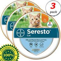 Bayer Seresto flea and tick collar for cats 3 PCS