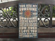 """You Are My Sunshine, Canvas, Wall Decor CANVAS 7.5x14.5"""" FREE PERSONALIZATION"""