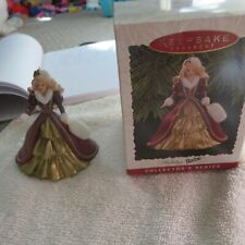 New! Holiday Barbie Ornament 1996 #4 Red & Gold Dress Based on 96 Holiday Doll