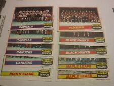 1979-80 Topps Hockey Mini Poster Team Photos Lot Of 10 w/Dupes 090117jh