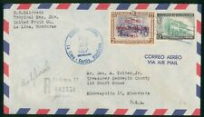 Mayfairstamps Honduras 1957 Official United Fruit co Registered to Minneapolis M