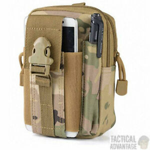 Multicam Camo Molle Utility Admin Tool Pouch Belt Bag Army Military Medic UK