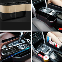 1x Car Seat Storage Box Seats Gap Collector Cup Holder For Wallet Phone Coins
