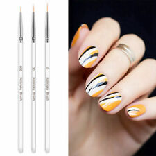 3x Nail Art Liner Brush Pen Flower Painting Drawing UV Gel Acrylic Manicure Tool