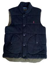 Polo Ralph Lauren Men's Full Zip Button Down Black Vest Size L