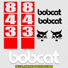 Bobcat 843 Skid Steer Set Vinyl Decal Sticker Aftermarket