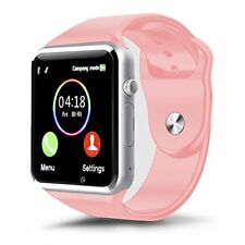Smart Watch Cell Phone For Women Pink Smartphone Ios Compatible Android Camera