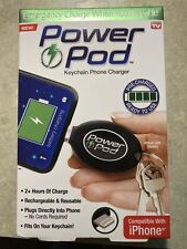 Power Pod - As Seen On TV Keychain Emergency Phone Charger 2+Hours Apple iPhone